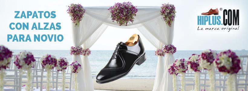 zapatos con alzas para novio